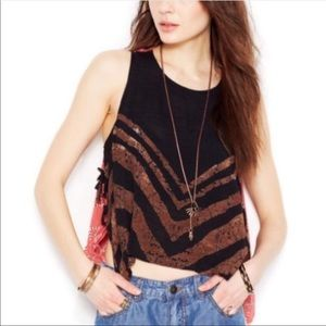 Free People Touch Of Love Side Tie Tank Top